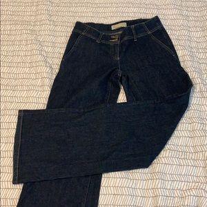 Michael Kors wide leg jeans size 2 dark wash
